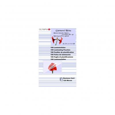 Olympia Lamination Pouches, Business Cards - 125 Micron Laminatorhoes - Transparant