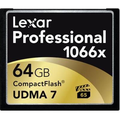Lexar flashgeheugen: CF 64GB - Multi kleuren
