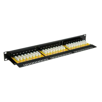 "Value Cat.6 19"" patchpanel, 24 ports, UTP Patch panel - Zwart"