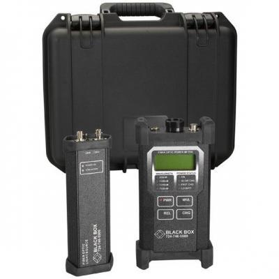 Black Box Fiber Optic Power Meter and LED Source Kit Netwerkkabel tester - Zwart