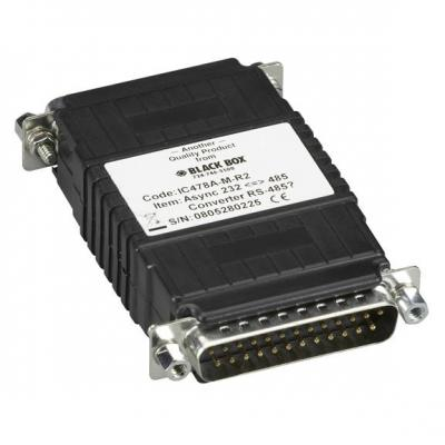 Black Box Async RS-232 to RS-485 Interface Converter, DB25 Male to DB25 Male Seriele .....