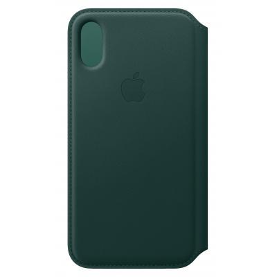 Apple Leren Folio-hoesje voor iPhone XS - Bosgroen mobile phone case