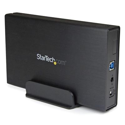 StarTech.com 3,5in zwarte USB 3.0 externe SATA III harde-schijfmet UASP voor SATA 6 Gbps draagbare externe .....