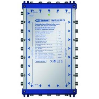 Spaun SMK 55163 FA Kabel splitter of combiner - Blauw, Zilver