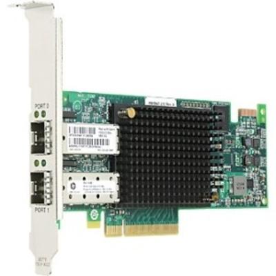 Lenovo Emulex 16Gbps Gen 6 FC Dual-Port HBA Adaper for System X Servers Netwerkkaart - Zwart,Groen,Zilver