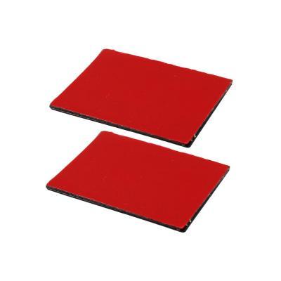 RAM Mounts 2-Pack Steel Rectangle Adhesive Plates for RAM Power-Plate, Black/Red Montagekit - Zwart, Rood
