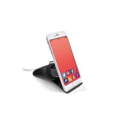 Terratec houder: Aluminum smartphone & Apple Watch stand - Zwart