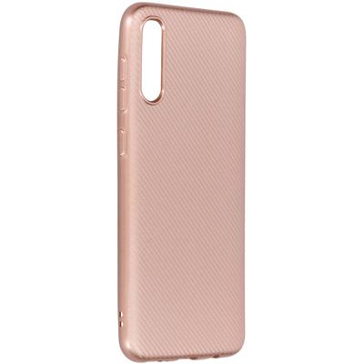 CP-CASES Carbon Softcase Backcover Samsung Galaxy A50 /A30s Rosé Goud - Rosé Goud / Rosé Gold Accessoire