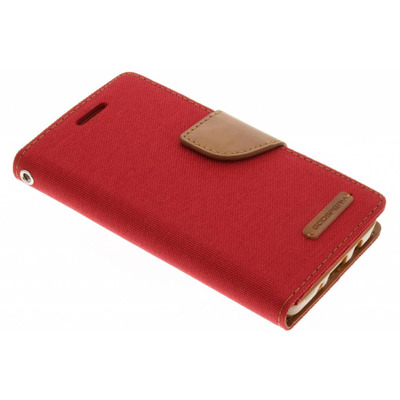 Canvas Diary Booktype Samsung Galaxy A3 - Rood / Red Mobile phone case
