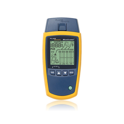Fluke netwerkkabel tester: MicroScanner 2 Cable Verifier - Blauw, Geel