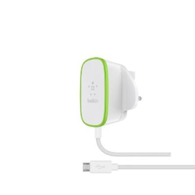 Belkin oplader: 2.4A, 12 Watt, 1.8m - Groen, Wit