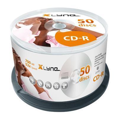 Xlyne CD: CD-R 700MB 50 Pack