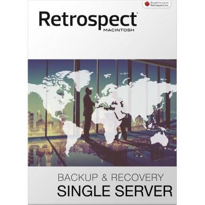 Retrospect backup software: Retrospect, (v15), Single Server 20, license, 1 server, 20 clients, download, MAC