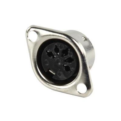 Valueline kabel connector: 5-pin DIN, Female, Black - Zwart