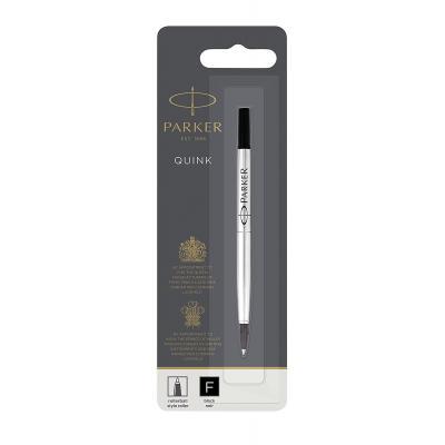 Parker pen-hervulling: Rollerball Pen Refill Fine Nib, Black - Zwart, Zilver