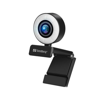 Sandberg Streamer USB Webcam - Zwart