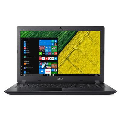 Acer laptop: Aspire A315-21-648X - Zwart, QWERTY