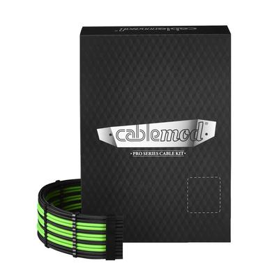 Cablemod C-Series PRO ModMesh Cable Kit for Corsair AXi/HXi/RM - Zwart,Groen