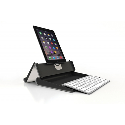 BakkerElkhuizen TabletRiser tabletcase Houder - Aluminium, Zwart
