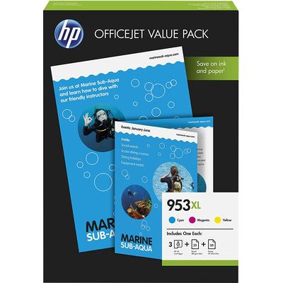 HP 953XL Office Value Pack Inktcartridge - Cyaan,Magenta,Geel