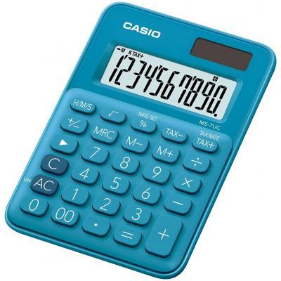 Casio MS-7UC Calculator - Blauw