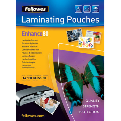 Fellowes Glossy Pouches A5 100 pcs. 80mµ Laminatorhoes