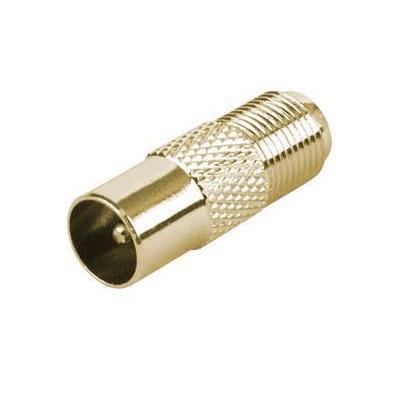 Schwaiger coaxconnector: GOUST9330 537 - Goud