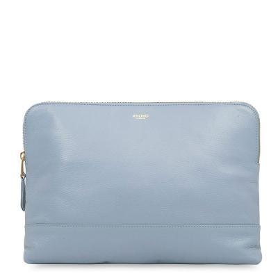 Knomo vrouwen-handtas: H23 x W32 x D3cm, 0.45 kg - Blauw