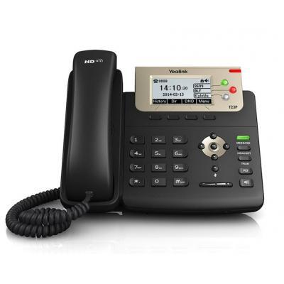 Yealink ip telefoon: IP phone, G.722, G.711, G.729AB, G.726, iLBC, LCD 132 x 64, PoE, call hold, mute - Zwart