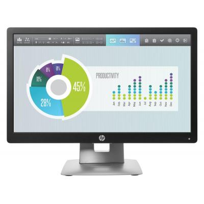 "HP EliteDisplay E202 20"" HD+ IPS Monitor - Zwart, Zilver"
