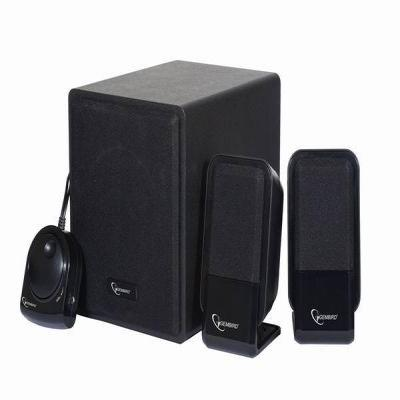 "Gembird luidspreker set: Multimedia 2.1 Speakerset, RMS 2 x 4W & 9W, 50 Hz - 20 kHz, 2 x 2"" Drivers, 4'' Subwoofer, ....."