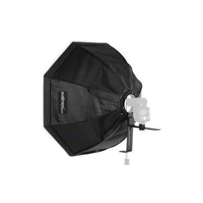 Walimex softbox: Octagon Softbox Ø 60cm for Compact Flashes - Zwart, Zilver, Wit