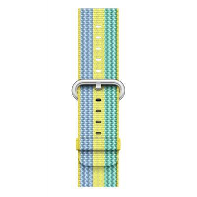 Apple : Bandje van geweven nylon - Stuifmeelgeel (42 mm) - Blauw, Groen, Limoen