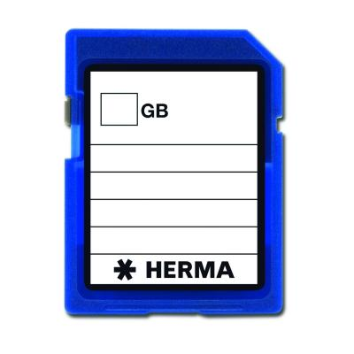 Herma : Memory card labels VARIO - Zwart, Wit