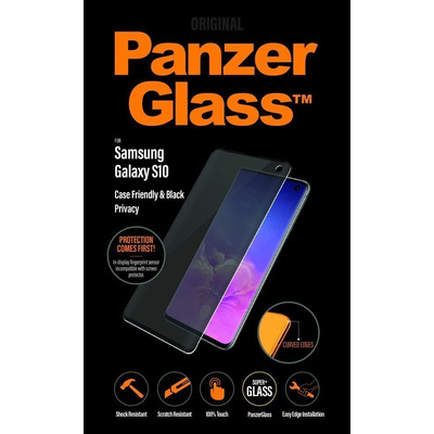 PanzerGlass Samsung Galaxy S10 Curved Edges Privacy Screen protector - Transparant