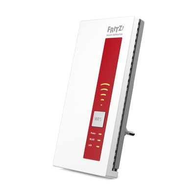 Avm wifi-versterker: FRITZ!WLAN Repeater 1750E International - Rood, Wit