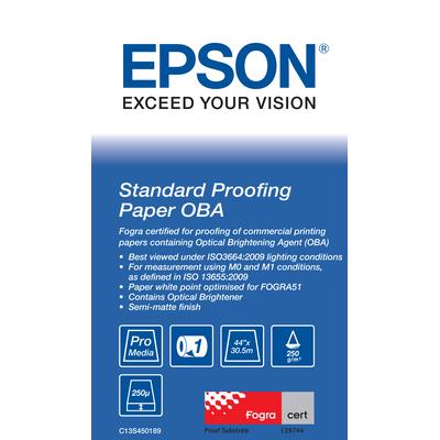 """Epson Standard Proofing, 44"""" x 30.5m, 250 g/m² Grootformaat media"""