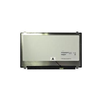 "2-power notebook reserve-onderdeel: 39.624 cm (15.6 "") 1920x1080 Full HD LED Glossy IPS - Zwart, Grijs"
