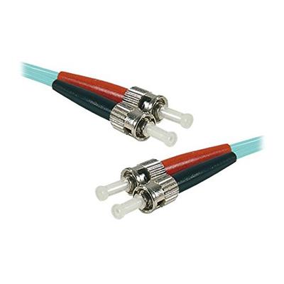 Connect 0.50 m OM3 50/125 LSZH ST/ST Fiber Duplex Patch Cord - Aqua Fiber optic kabel - Aqua-kleur