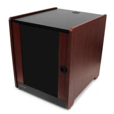 Startech.com rack: 12U kantoor serverkast met houten afwerking en zwenkwielen - Zwart, Hout