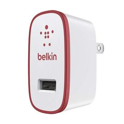 Belkin oplader: Home Charger 2.1 Amp Red - Rood, Wit