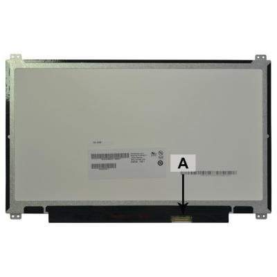 2-power notebook reserve-onderdeel: 13.3 1366x768 WXGA HD LED Matte eDP Screen - replaces B133XTN01.3 - Zwart