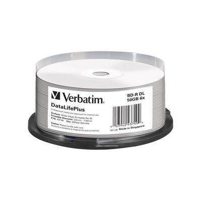 Verbatim BD: BD-R DL 50GB 6x Wide Printable 25 Pack Spindle - No ID Brand
