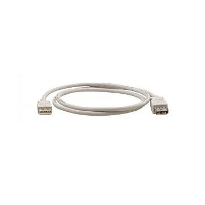Kramer Electronics 3.0 m, 480 Mbps, USB-A (M) to USB-A (F) 2.0 USB kabel - Wit