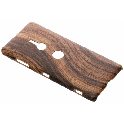 CP-CASES Hout Design Backcover Sony Xperia XZ3 - Brown Wood Mobile phone case