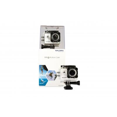 "Salora actiesport camera: 5MP CMOS, Full HD, 3.81 cm (1.5 "") TFT monitor, Wi-Fi, Micro-USB, MicroSD/SDHC, 900mAh accu, ....."