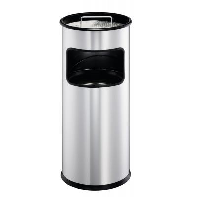 Durable vuilnisbak: 17 L, Ø 260 x 620 mm - Zilver