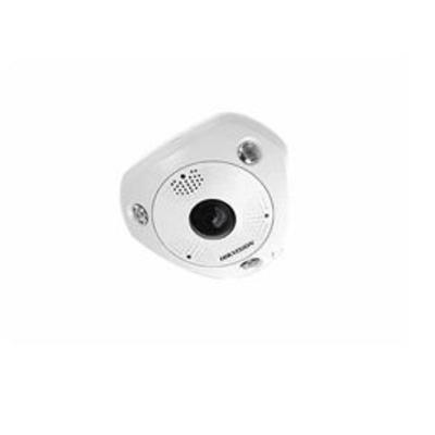 Hikvision Digital Technology 6MP FISHEYE INDOOR, 15M IR 1.05MM LENS Beveiligingscamera - Wit