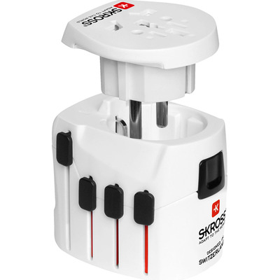 Microconnect SKROSS World Adapter Pro+ Elektrische stekker - Wit