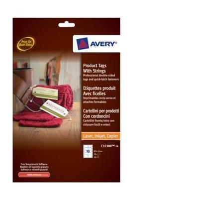 Avery etiket: Product Tags with Strings